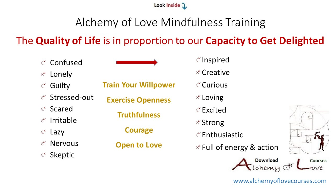 alchemy of love mindfulness exercises: get delighted