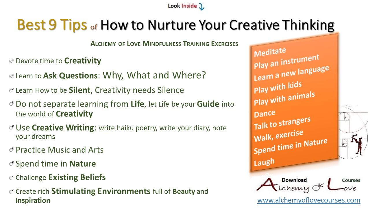 Alchemy of love mindfulness exercises and tips How to foster creativity in children: nurture creative thinking tips