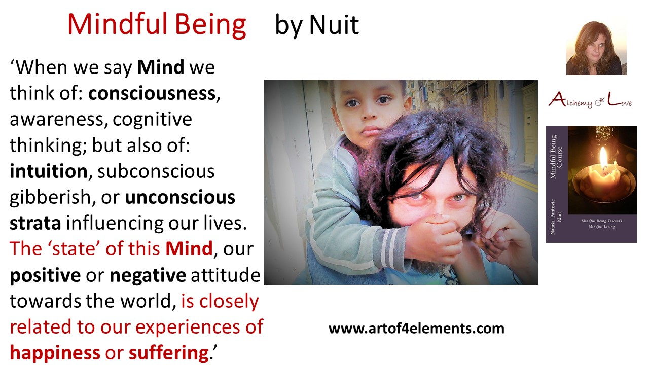 Mindful Being Course by Nataša Pantović quote about mind powers