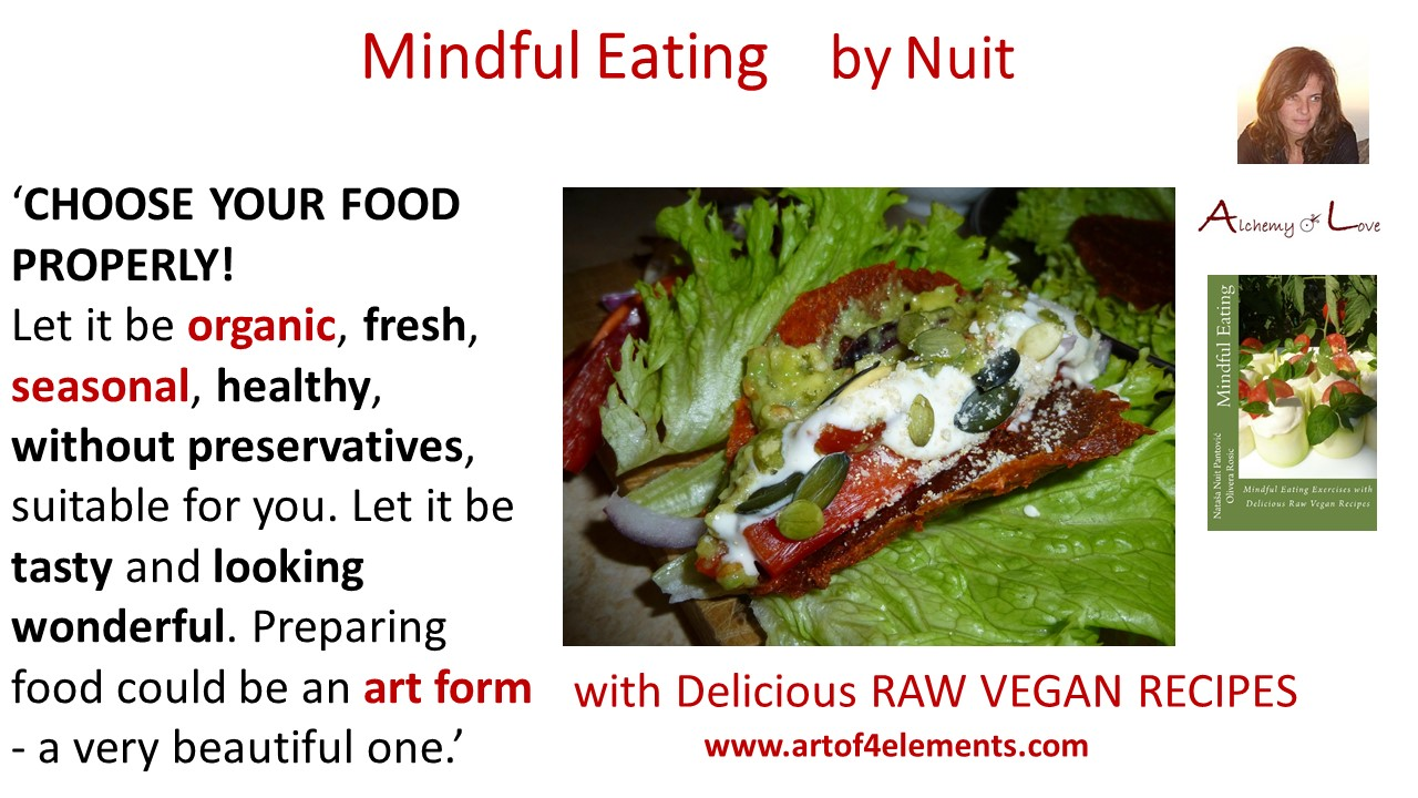 Mindful Eating by Nuit Quote, Choosing Healthy Food