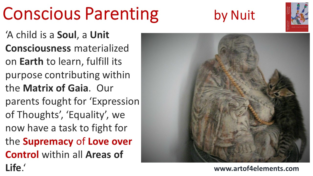 conscious parenting book quote mindful positive parenting by natasa pantovic nuit about children as soul love over control