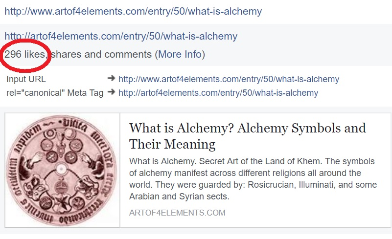 296 likes shares comments in What is Alchemy Article