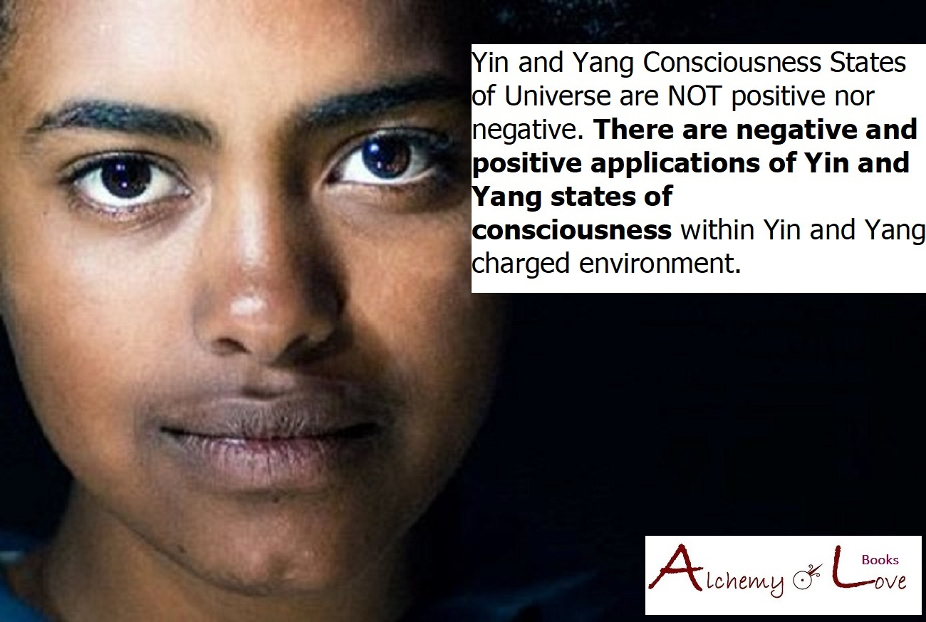 Yin and Yang Consciousness States of Universe are NOT positive nor negative AoL Books