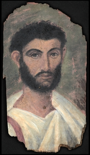 A mummy portrait, 2nd century, first half AC