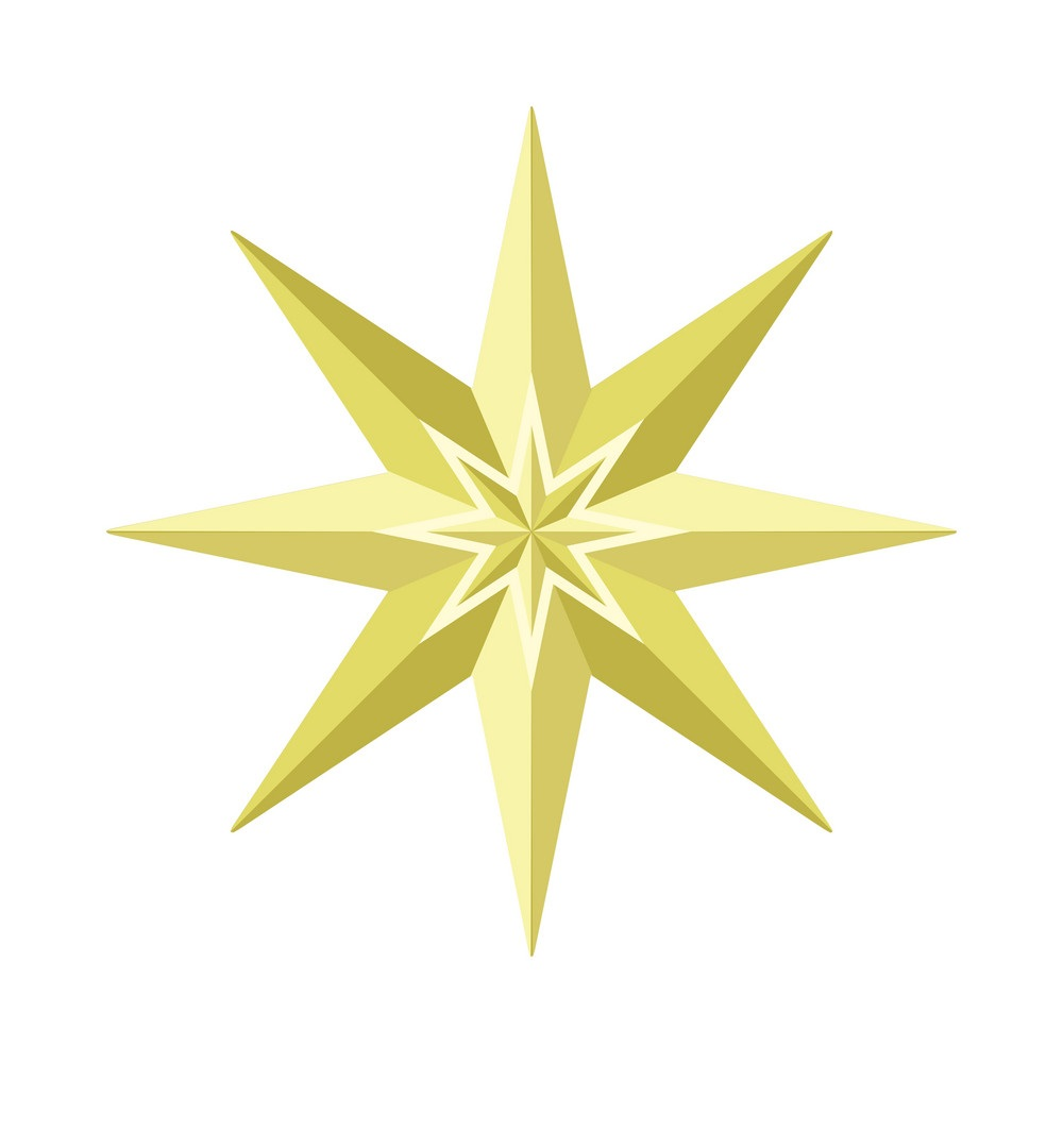 eight-pointed-star-in-gold