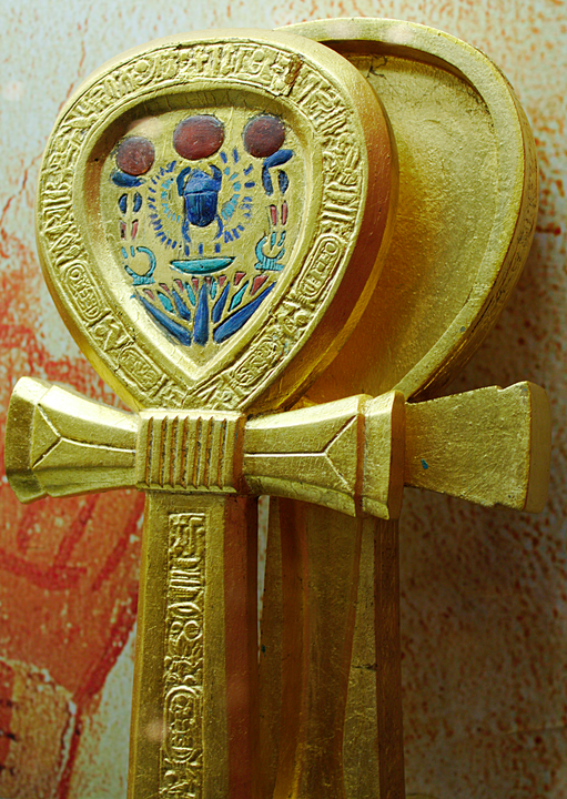 Hand mirrors were created in the shape of the ankh, the most famous being that found in the tomb of Tutankhamun 2,500 BC