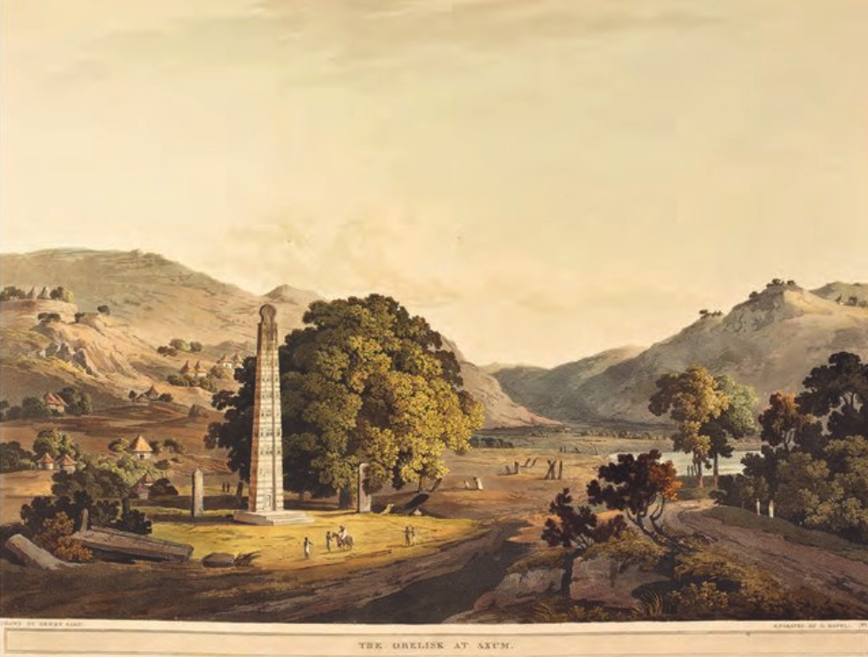 Salt and Havell (1809) The Obelisk at Axum
