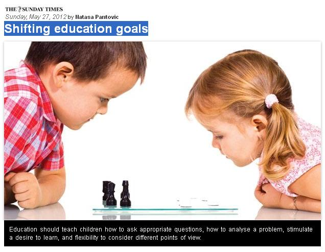 our children articles, lessons from Finland, educational reform, chess