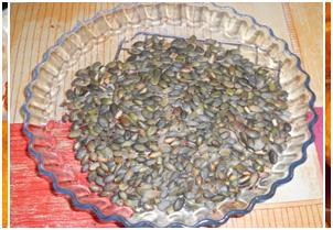 Food for Health: healthy snacks pumpkin seeds
