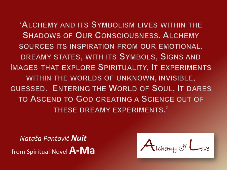 what is alchemy quote from Ama Spiritual Novel