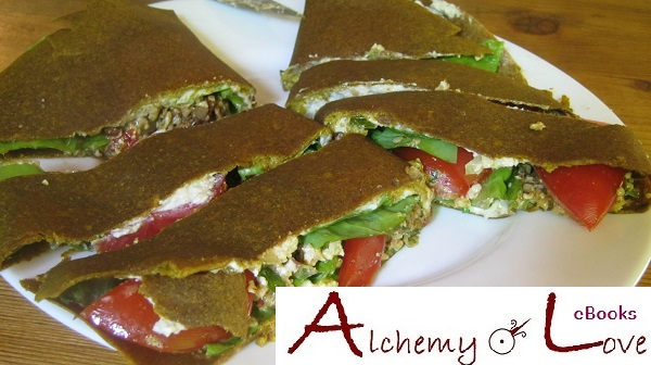 alchemy of love ebook mindful eating vegan raw recipes tortilla avocado