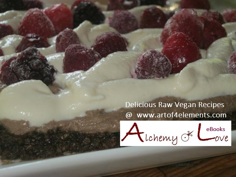 Recipes from Mindful Eating book: Raw Vegan Black Forest Cake