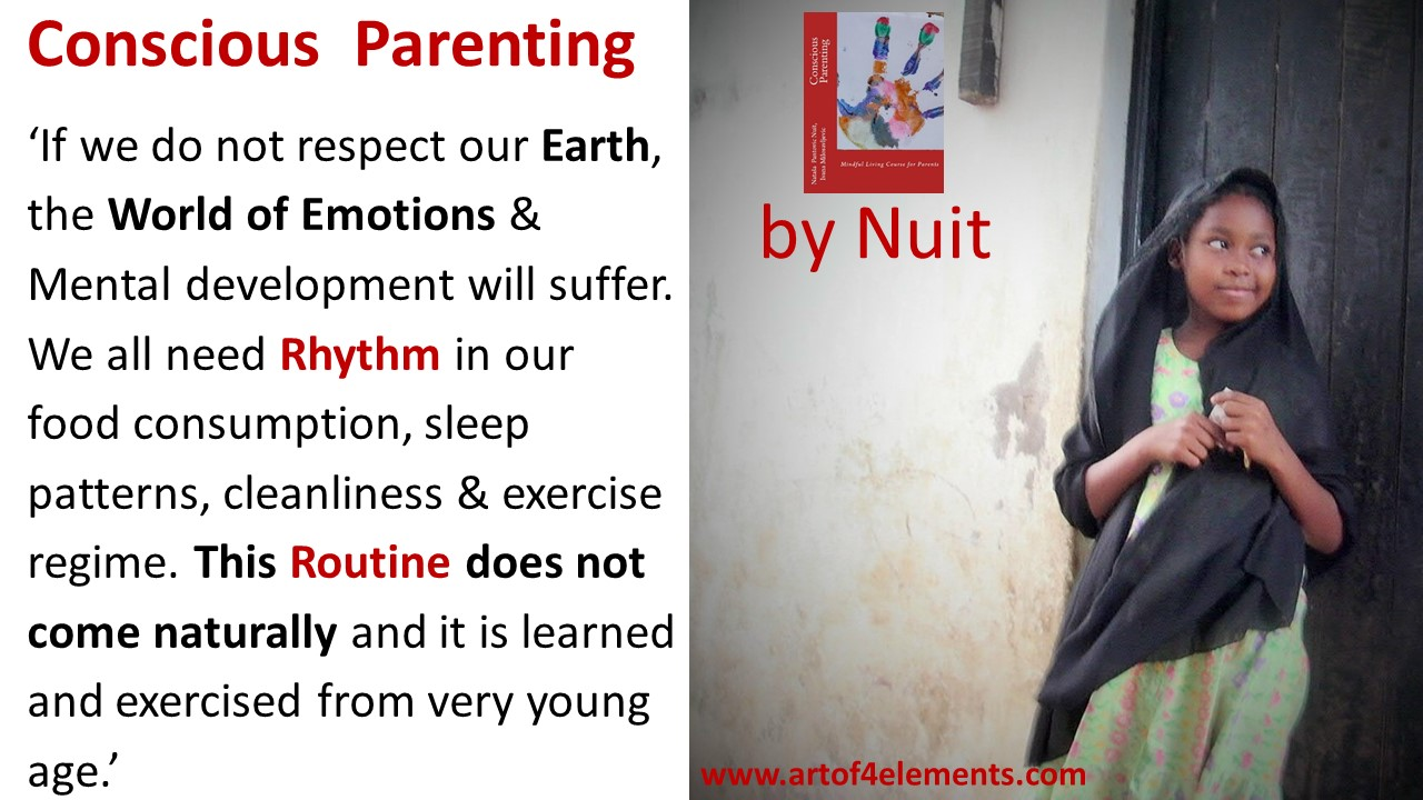 Conscious Parenting by Natasa Pantovic Nuit Quote about kids and routine, rhythm