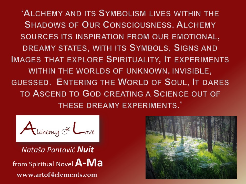 Ama Alchemy of love quote about soul and alchemy of humanity