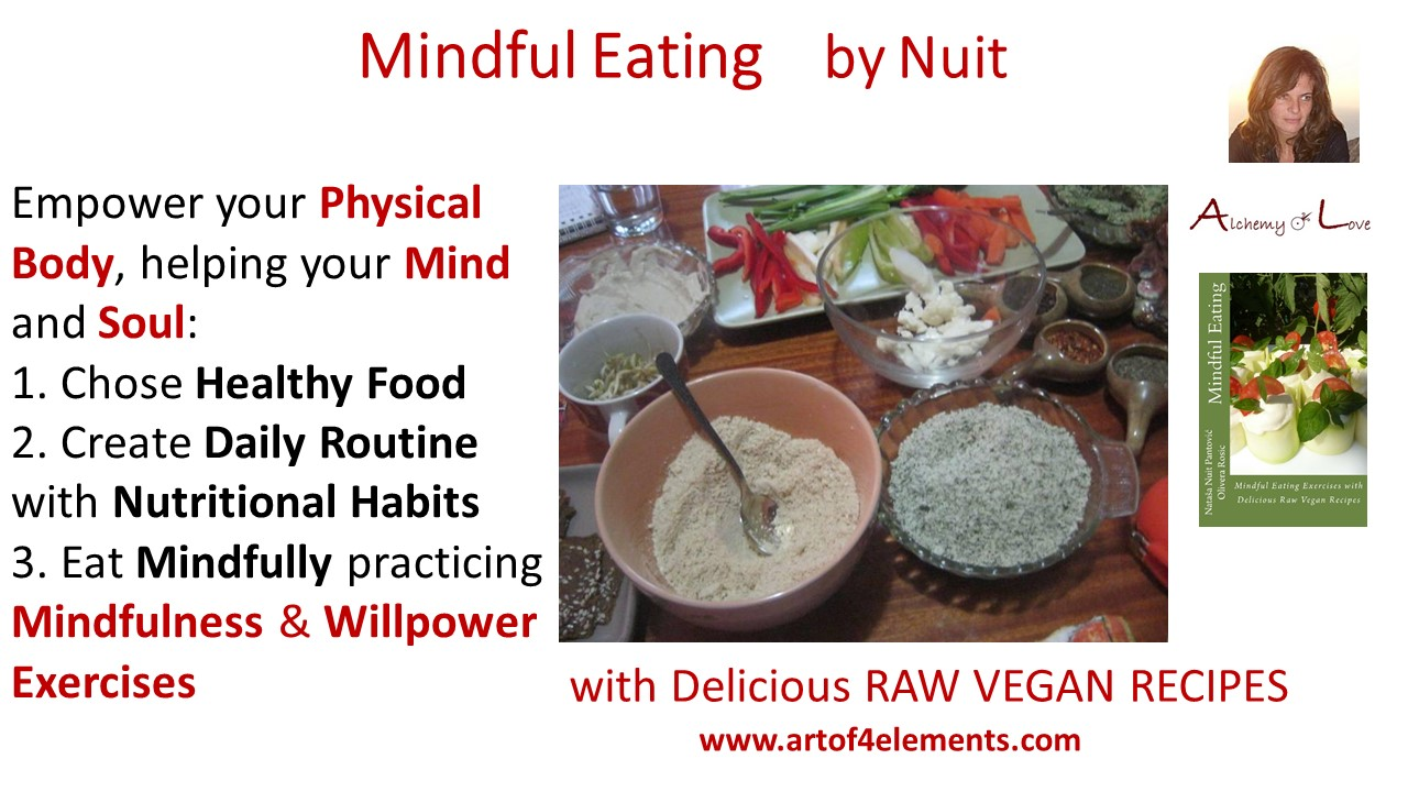 Mindful Eating quote about vegan vegetarian food, body mind soul