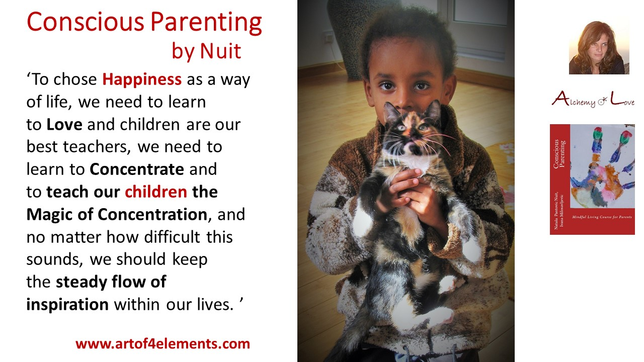 Self Development for Parents Conscious Parenting Book quotes by Natasa Pantovic Nuit