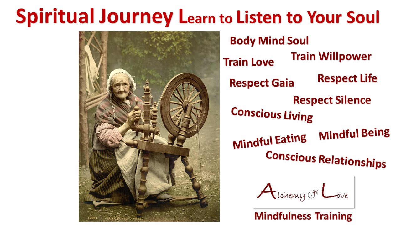 Mindfulness Training Alchemy of Love Listen to Soul Spiritual Journey Body Mind Soul Tools