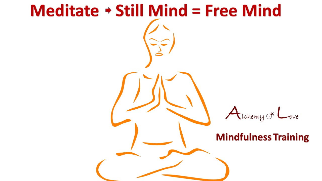 Yoga meditate still mind is free mind