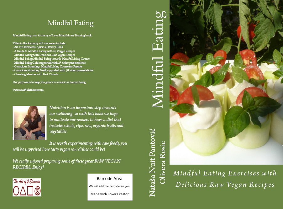 Mindful Eating Raw Vegan Recipes Book