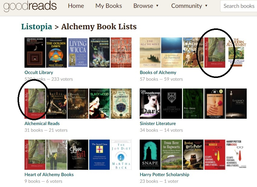 Alchemy books best goodreads lists with Ama