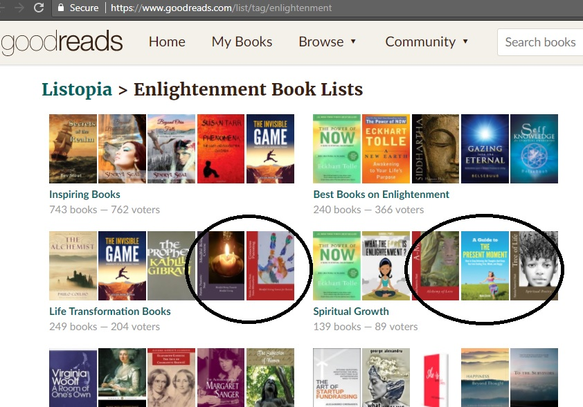 Enlightenment books best goodreads lists with Ama and Tree of Life