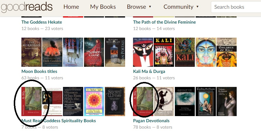 must read Goddess Spirituality Books List goodreads with Ama