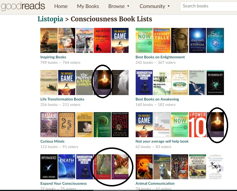 consciousness books lists goodreads with Mindful Being Course Conscious Creativity Ama Novel and Tree of Life True Story by Nataša Pantović Nuit