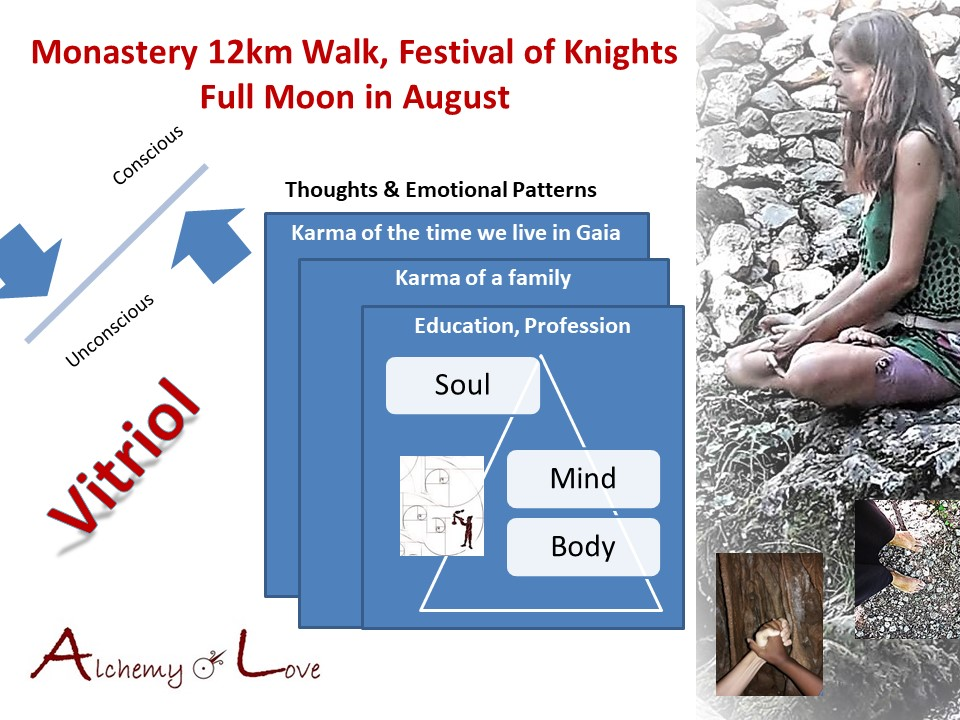 monastery 12km walk festival of knights full moon in August