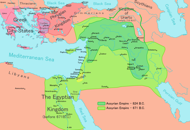 When East meets West Egyptian Kingdom Map 699 BC