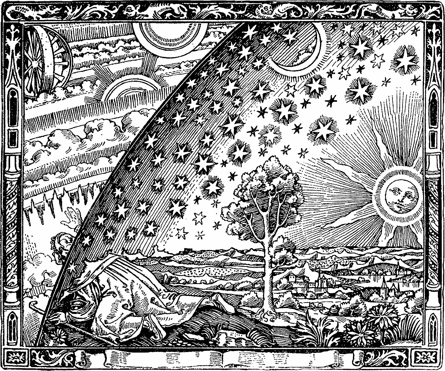 Flammarion cosmos engraving 19th century