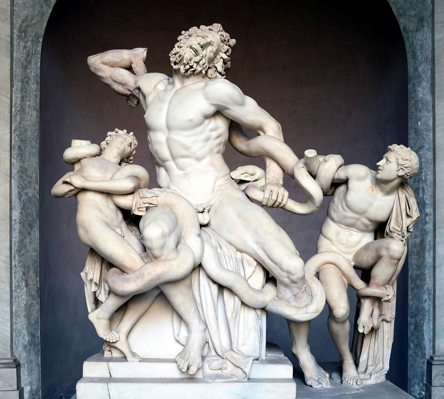 Ancient Greece Mythology Lacoon and His Sons